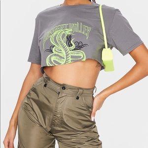 Snake Cropped T-shirt